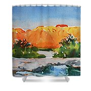West Temple Zion Afternoon Shower Curtain