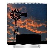West Texas Cattle Tank Shower Curtain