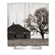West Texas Winter Shower Curtain