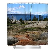 West Thumb Geyer At Yellowstone Lake Shower Curtain