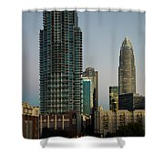 West Trade Street Downtown Charlotte North Carolina Shower Curtain
