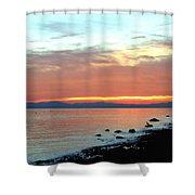 West Vancouver Sunset Shower Curtain