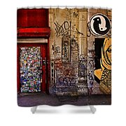 West Village Wall Nyc Shower Curtain by Chris Lord