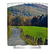 West Virginia Autum On Sandy Ridge Shower Curtain