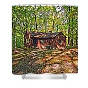 West Virginia Cabin Shower Curtain