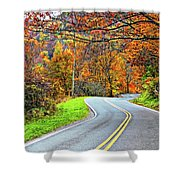 West Virginia Curves Shower Curtain
