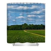 West Virginia Field  Shower Curtain