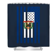 West Virginia State Flag Graphic Usa Styling Shower Curtain