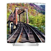 West Virginia Trestle Shower Curtain