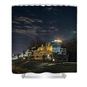 Westbound Norfolk Southern 375 At Georgetown In Shower Curtain