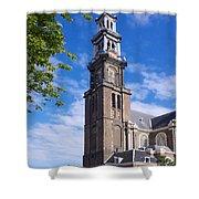Westerkerk Tower And Church. Amsterdam. Netherlands. Europe Shower Curtain