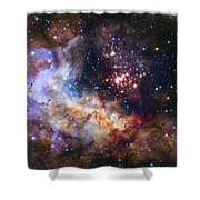 Westerlund 2 - Hubble 25th Anniversary Image Shower Curtain