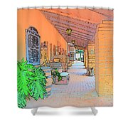 Western Alley Drawing 1 Shower Curtain