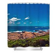 Western Australia Beach Panorama Margaret River Shower Curtain