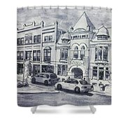 Western Avenue In Muskegon, Michigan Shower Curtain