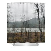 Western Cascade Foothills Shower Curtain