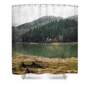 Western Cascades River Shower Curtain