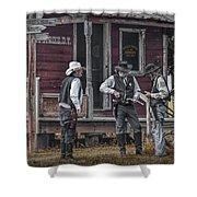 Western Cowboy Re-enactors At 1880 Town Shower Curtain