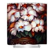 Western Flowers Shower Curtain
