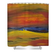 Western Horizon  Shower Curtain