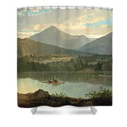 Western Landscape Shower Curtain by John Mix Stanley