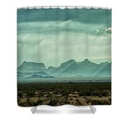 Western Mountains Shower Curtain