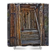 Western Outhouse Shower Curtain