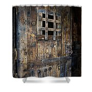 Western Rustic Door Shower Curtain