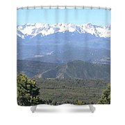 Western Slope Mountains Shower Curtain