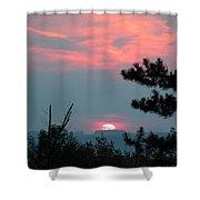 Western Sunset Sun On The Horizon Shower Curtain