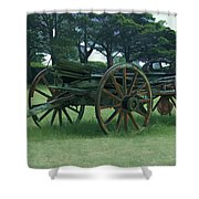 Western Wagon Shower Curtain