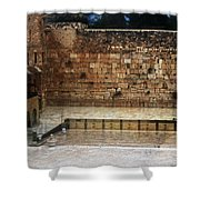 Empty Western Wall Shower Curtain