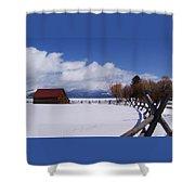 Western Winter Shower Curtain