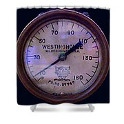 Westinghouse Steam Gauge Shower Curtain