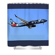 Westjet Disney Magic B-737-800 Shower Curtain