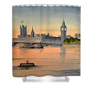 Westminster And Big Ben  Shower Curtain