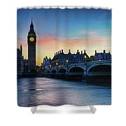 Westminster At Dusk Shower Curtain