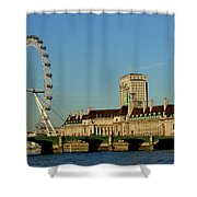 Westminster Bridge And London Eye Shower Curtain
