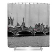 Westminster Bridge In  London Shower Curtain