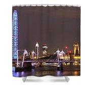 Westminster From Waterloo Bridge London Shower Curtain