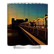 Weston Pier At Sunset Shower Curtain