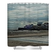 Weston - Super -mare  -  Outflow - Hdr Shower Curtain