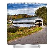 Westport Covered Bridge Shower Curtain by Jack R Perry