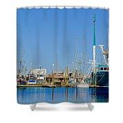Westport Docks Color Shower Curtain