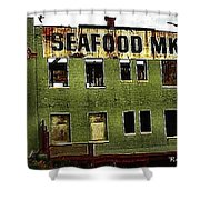 Westport Washington Seafood Market Shower Curtain