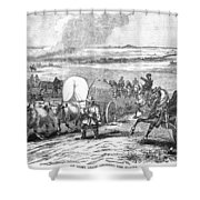 Westward Expansion, 1858 Shower Curtain by Granger