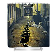 Wet Alley Shower Curtain