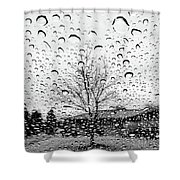 Wet Car Window B Shower Curtain
