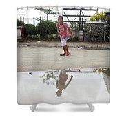Wet Dry Wet Dry Shower Curtain