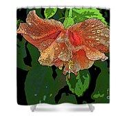 Wet Hibiscus Shower Curtain